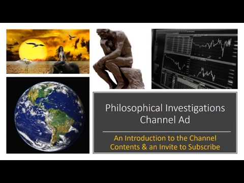 Philosophical Investigations Channel Ad