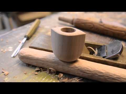 Woodworking, Hand Carved Tobacco Pipe, How To Pt. 2