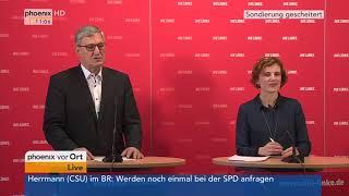 Katja Kipping und Bernd Riexinger zum Scheitern der Sondierungsgespräche am 20.11.17