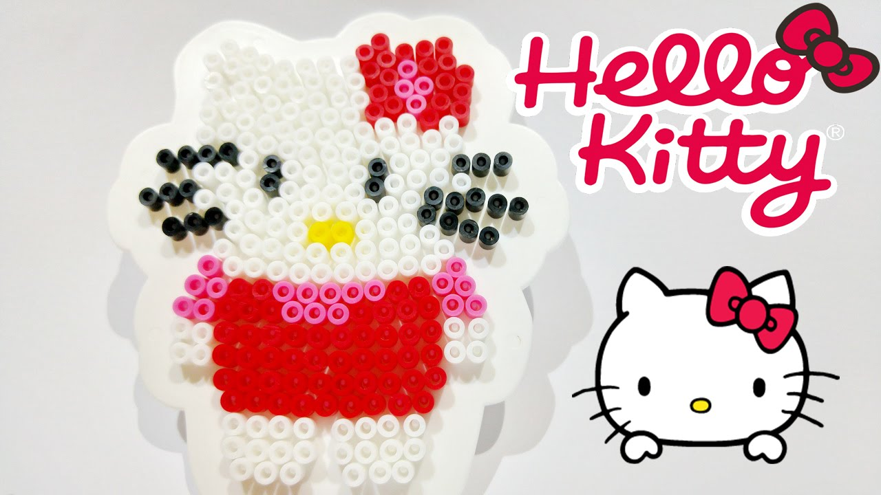 hello kitty beads ses creative perlamatic & plate toy video ☆ Хелло