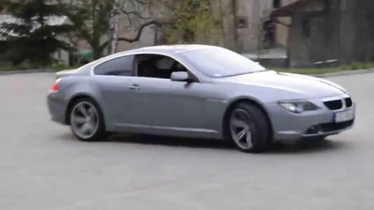 BMW I E Burnout Drift Poland YouTube - 645i bmw