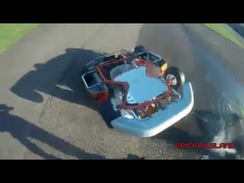Go Kart Crashes And Flips! - (EpicFailsLand)