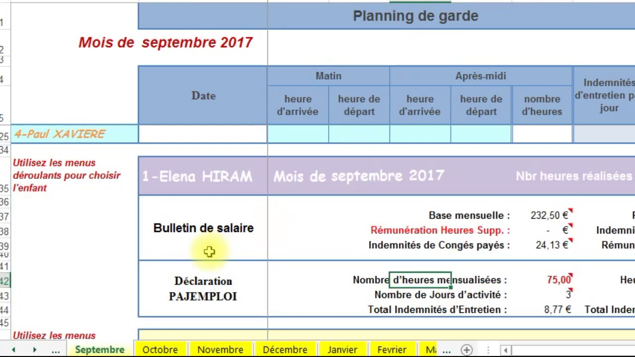 Planning De Presence Pajemploi V4 Youtube