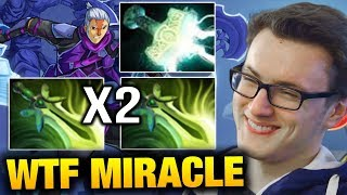 WTF Miracle 2x Butterfly and Mjollnir Antimage Item Build Dota 2