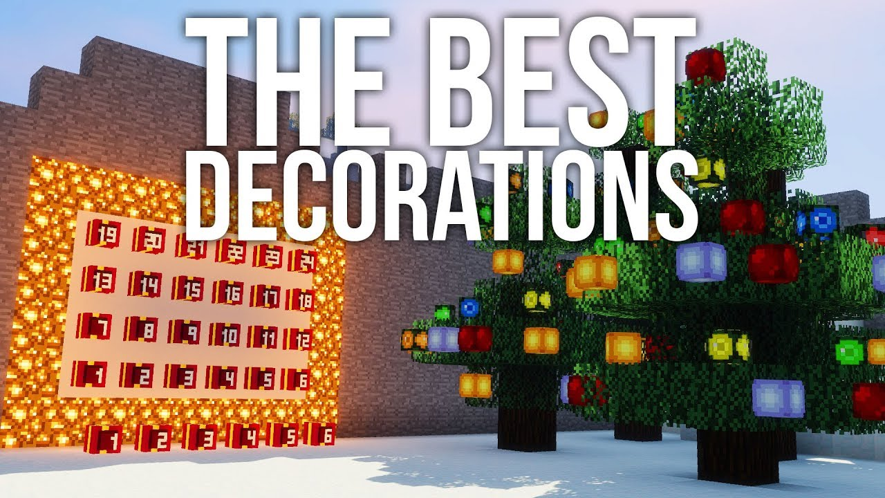 Christmas Minecraft Decorations.The Best Christmas Decorations Using Player Heads In Minecraft