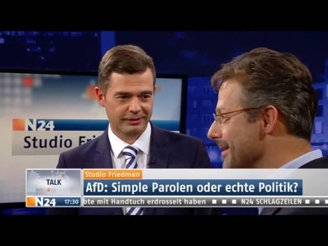 Studio Friedman - Ist Merkels Flüchtlingspolitik verantwortlich für das Erstarken der AfD?