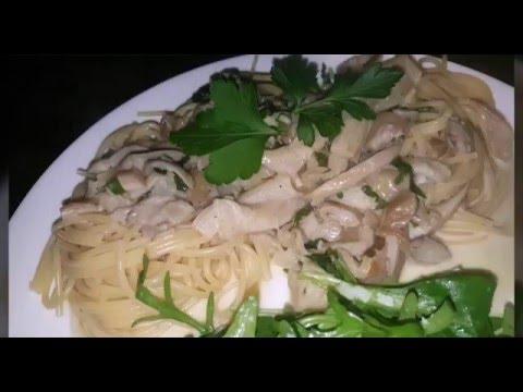 Рецепт Жареные грибочки в вино сливочном соусе