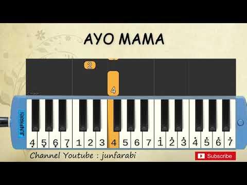 Not Pianika Ayo Mama Lagu Daerah Belajar Pianika Not Angka Ayo Mama Youtube