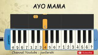 not pianika ayo mama - lagu daerah - belajar pianika not angka ayo mama