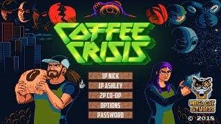 Coffee Crisis for Nintendo Switch | Opening 13 Minutes & First Boss Battle (Direct-Feed Switch)