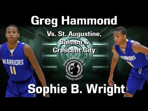 Greg Hammond early season (Jr.) highlights - Sophie B. Wright 2019 CG