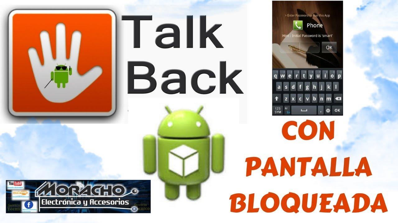 Desactivar Talkback Con Pantalla Bloqueada Fácil Y Rápido Youtube