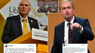 BREAKING! Lib Dems face fury after Vince Cable and Tim Farron miss Brexit votes
