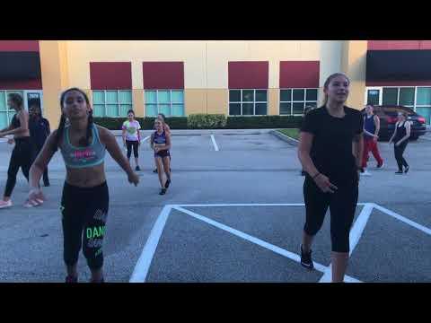 Dancing in the Streets Stuart- AE street practice 8/16/17 Aerial Elite Cheer & Dance Stuart Fl