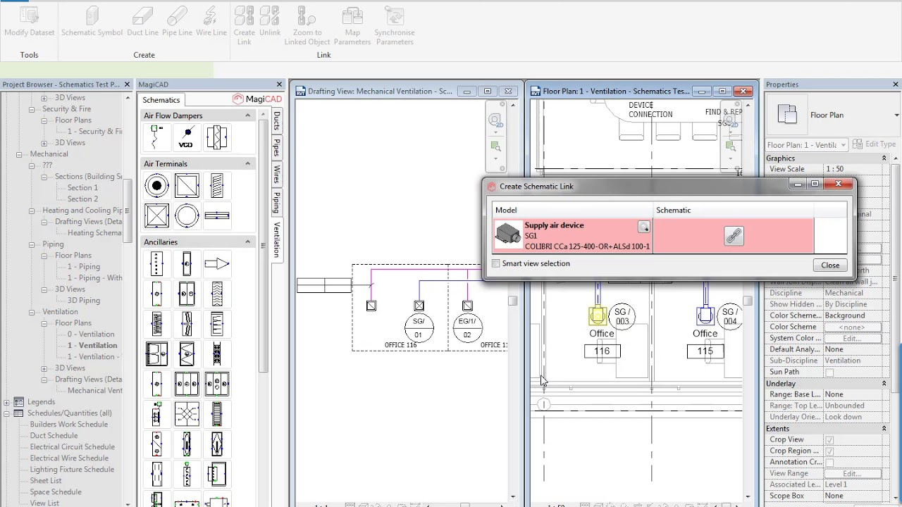magicad for revit mep schematics module quick overview  [ 1280 x 720 Pixel ]