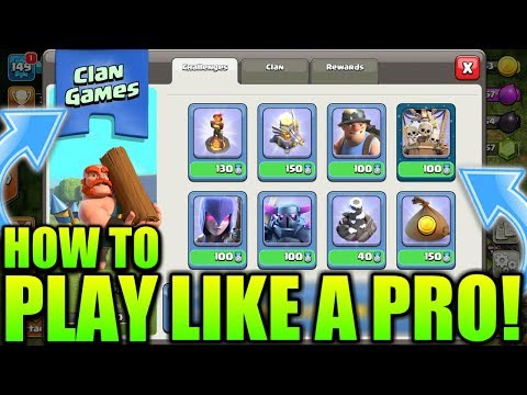 BE A PRO IN CLAN GAMES! HOW? CLASH OF CLANS•FUTURE T18