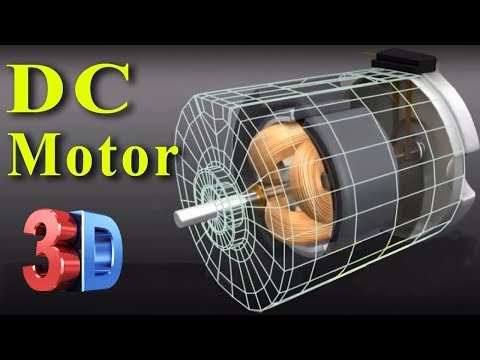 Construction and Working of a DC Motor (3D Animation)