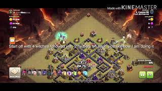 Town hall 9 witch slap (how to take out an electro dragon as An defending cc)