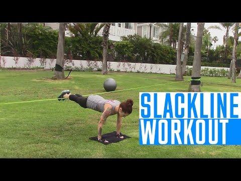 Slackline Workout Exercises Resistance, Core, Stability & Cardio
