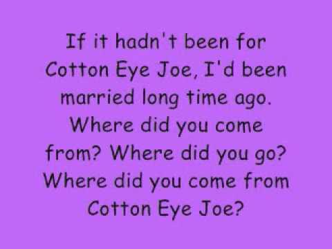 Cotton Eye Joe - Rednex lyrics