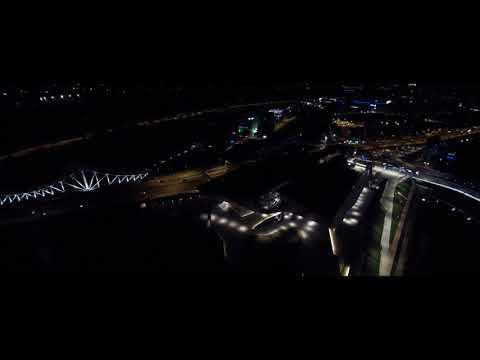 Lyon La Nuit, Vidéo De Prises De Vues Aériennes Nocturnes