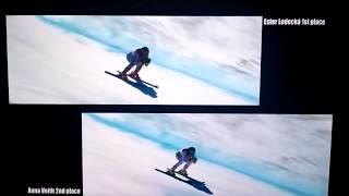 OLYMPIC COMPARSION - Ester Ledecká vs. Anna Veith SUPER G FULL RACE