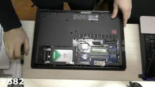 Неполная разборка ноутбука Lenovo B50-70  Установка SSD, добавить RAM, как снять клавиатуру(, 2017-02-05T09:22:23.000Z)