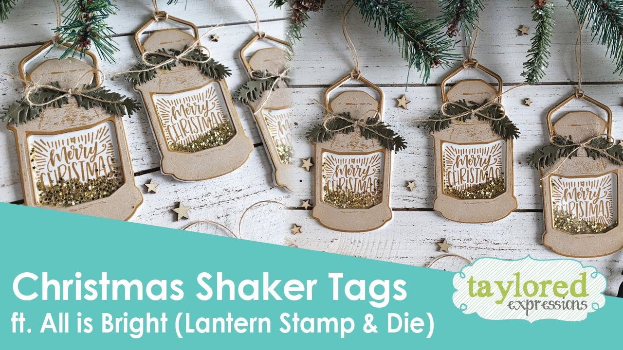 Shaker Woods Christmas In The Woods 2019.Christmas Shaker Lantern Tags