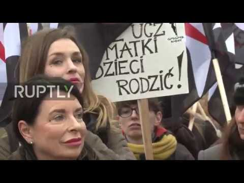 Poland: Women protest new abortion laws outside parliament