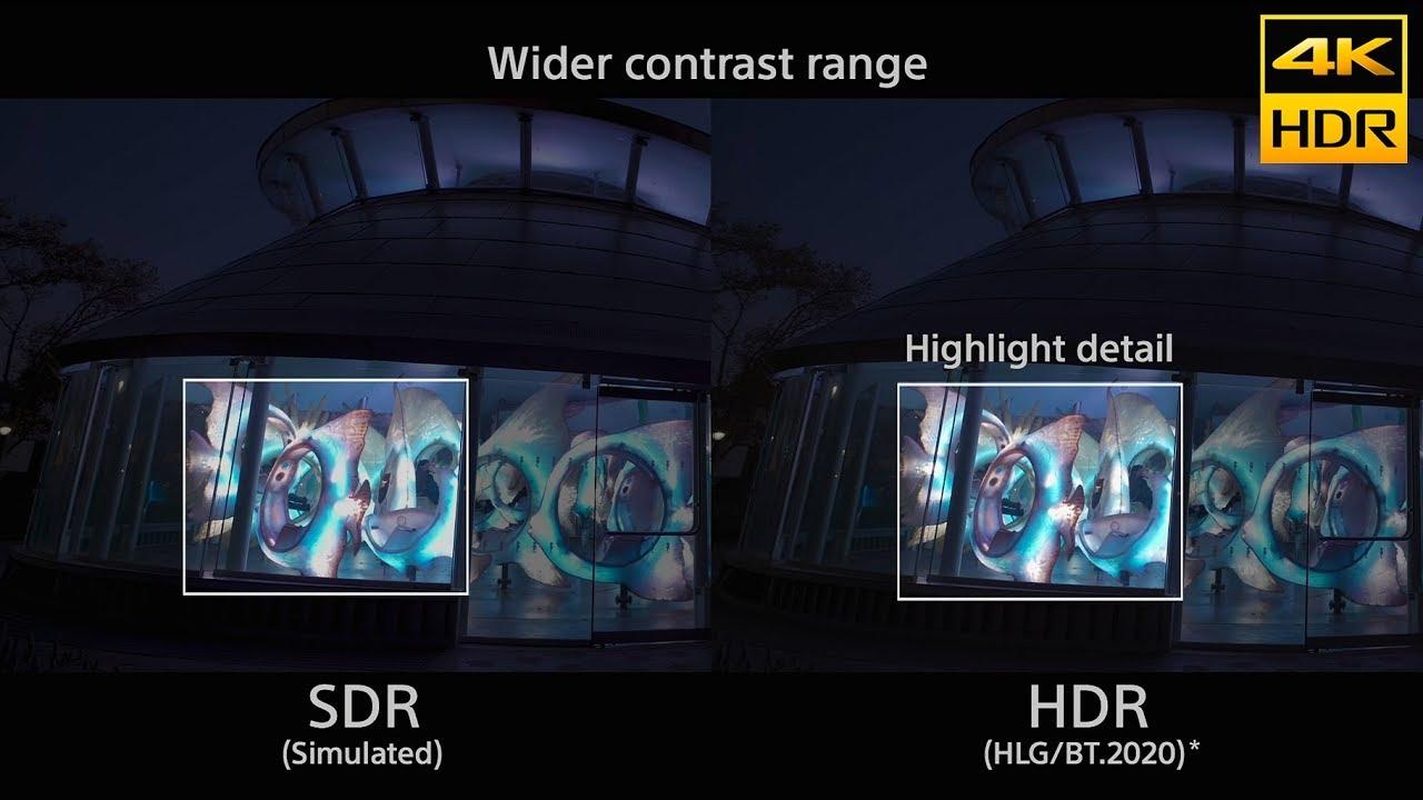 Best Sdr 2020 Sony   α  4K HDR (HLG)  comparison to SDR   YouTube