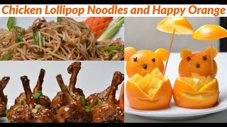 Chicken Lolipops And Noodles - Easy Chicken Snack Recipe - Party Snacks Kids Just Love It