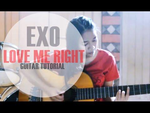 EXO Love me right- guitar tutorial easy chord - cover Tabita Princesia
