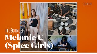 """Baixar Melanie C des Spice Girls chante son dernier titre """"Blame It On Me"""" dans un téléconcert exclusif"""