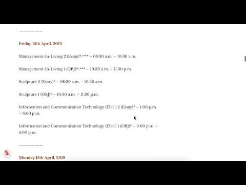 Waec 2019 timetable - May June 2019/2020 Wassce time table