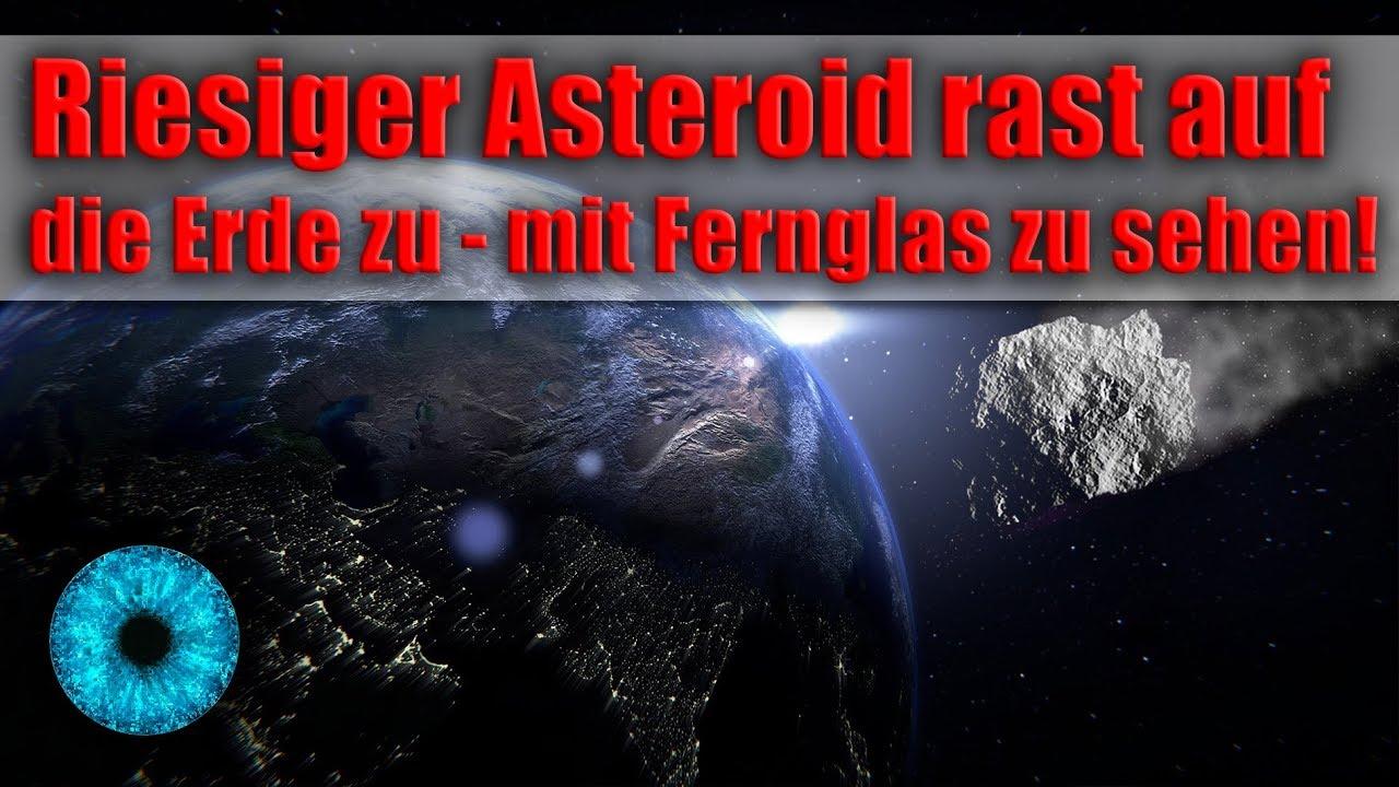 Riesiger Asteroid Rast Auf Erde Zu Mit Fernglas Zu Sehen