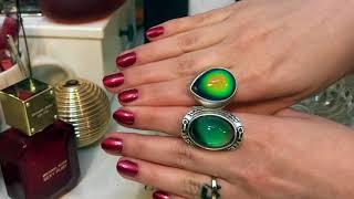 АСМР. ASMR.Новые кольца меняющие цвет и новый лак с помадой