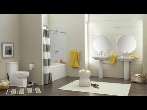 Grey White And Yellow Bathroom Ideas