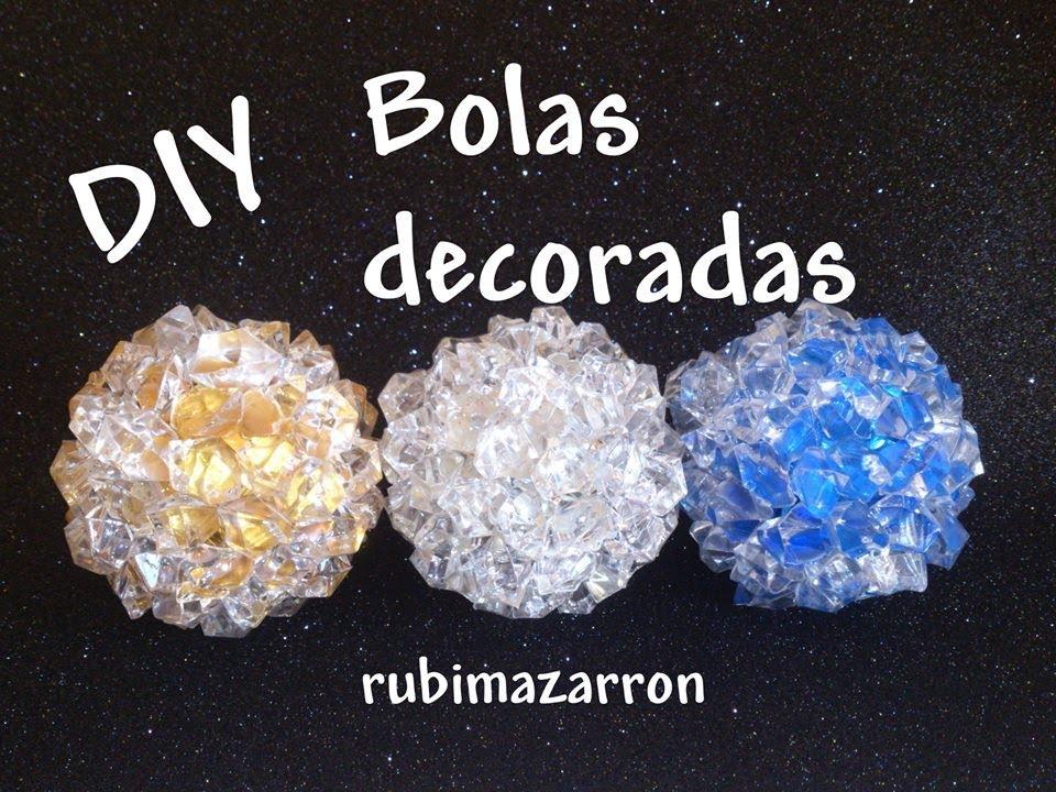 Diy esferas recicladas o bolas decoradas para navidad - Esferas de navidad ...