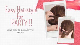 تسريحة سريعة وجميلة للمناسبات Easy & Simple Hairstyle for Party