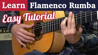 Learn Flamenco Rumba on guitar - Easy Strumming tutorial in 3 steps