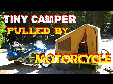 Tiny Camper Pulled by Motorcycle!?  Kompact Kamp Trailer