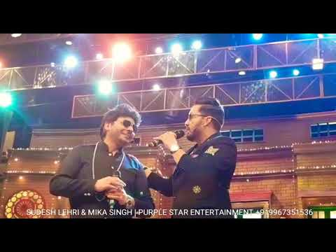 Mika Singh Live 🎤 performance with Sudesh Lehri