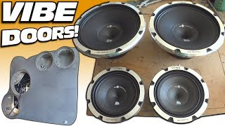 NEW Door Speakers w/ Vibe Audio BLACK DEATH!! Installing Speaker in Custom Car Audio Door Pods