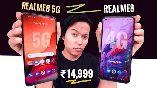 Realme 8 5G vs Realme 8 Unboxing & Comparison : What is New