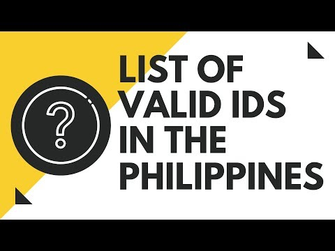 List Of Valid IDs In The Philippines | Philippine Valid ID
