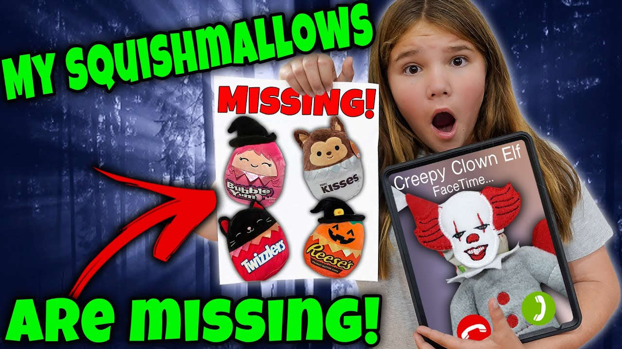 My Halloween Squishmallows Are Missing! Creepy Clown Elf Facetimed Me!