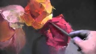 Увядающие розы  Игорь Сахаров  Уроки живописи