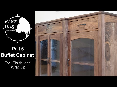 walnut-buffet-cabinet-build-part-6:-top,-finish,-and-wrap-up-|-woodworking