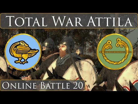 Total War Attila Online Battle 20 Caledonians vs Burgundians