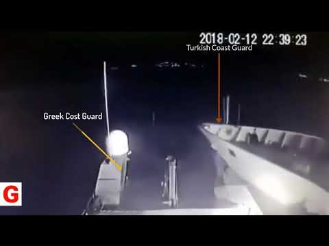 Turkish coast guard crashed Greek coast guard ship